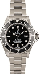 Pre Owned Rolex Sea-Dweller 16600 Black Dial