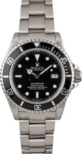 Pre Owned Black Rolex Sea-Dweller 16600 Stainless Steel