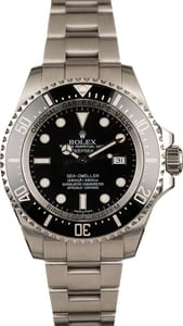 Pre Owned Rolex Sea Dweller Deepsea 116660 Ceramic Black Bezel