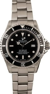 PreOwned Rolex Sea-Dweller 16600 Black Luminescent Dial