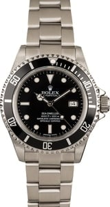 Pre-Owned Rolex Sea-Dweller 16600 Black Luminous Dial