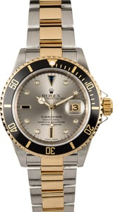Rolex Serti Dial Submariner 16613T 100% Authentic