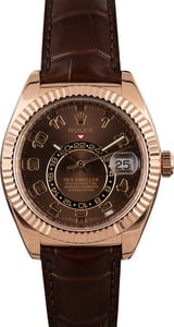 Pre-Owned Rolex Sky-Dweller 326135 Rose Gold