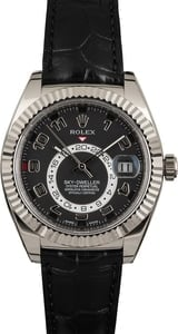 Rolex Sky-Dweller 326139 Black Arabic Dial Leather