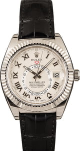 Pre-Owned Rolex Sky-Dweller 326139 Ivory Dial