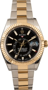 Rolex Sky-Dweller 326933 Black Dial Two Tone