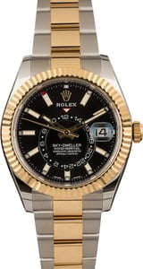 Used Rolex Sky-Dweller 326933 Black Dial Two Tone Oyster