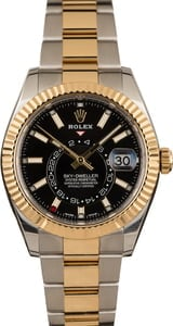 Pre-Owned Rolex Sky-Dweller 326933 Black Luminous Dial