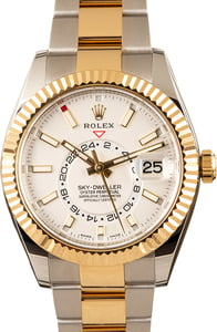 Pre-Owned Rolex Sky-Dweller 326933 White Dial Watch