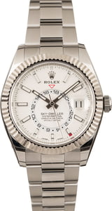 Pre Owned Rolex Sky-Dweller 326934 White Luminous Dial