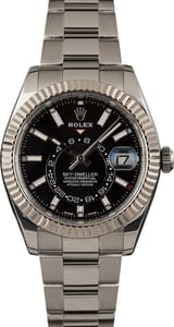Pre Owned Rolex Sky-Dweller 326934 Black Luminous Dial