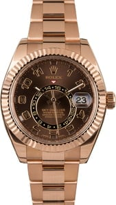 Pre-Owned Rolex Sky-Dweller 326935 Everose Gold Watch
