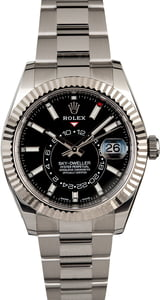 Unworn Rolex Sky-Dweller 326934 Black Luminous Dial