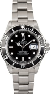 Rolex Stainless 16610 Oyster Perpetual Submariner