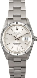 Rolex Stainless Date 15210 Silver Dial