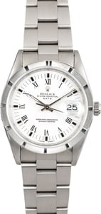 Rolex Stainless Date 15210 White Dial