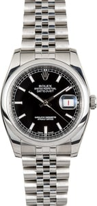 Rolex Stainless Datejust 116200 Black Dial