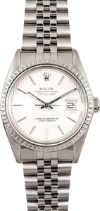 Rolex Stainless Datejust 16030 Tapestry Dial