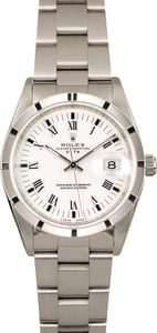 Rolex Stainless Steel Date 15210 White Dial