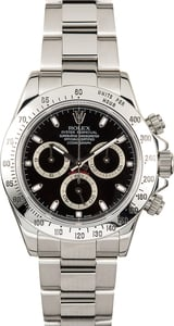 PreOwned Rolex Stainless Steel Daytona 116520 Black