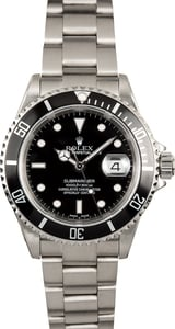 Rolex Stainless Submariner 16610 No Holes Case