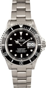 Rolex Stainless Submariner 16610 Pre-Owned