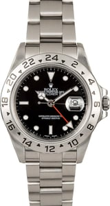 Rolex Steel Explorer II 16570 Black Dial