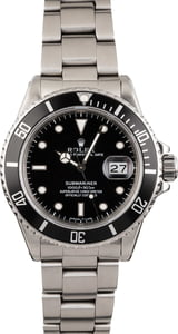 PreOwned Rolex Steel Submariner 16610