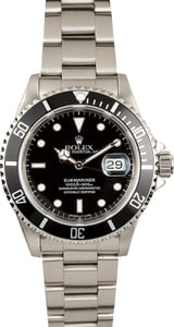 Rolex Steel Submariner 16610 100% Authentic