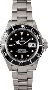Rolex Steel Submariner 16610 Oyster