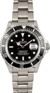 Rolex Steel Submariner 16610 Pre-Owned