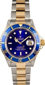 Rolex Steel and Gold Submariner 16613 100% Authentic