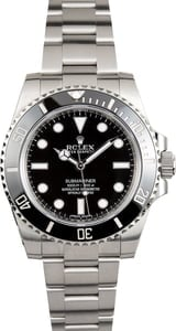 PreOwned Rolex Submariner 114060 Black No Date Dial