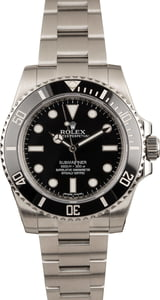 Used Submariner Rolex 114060 Black Dial