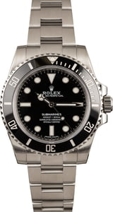 PreOwned Submariner Rolex 114060 Ceramic Black Bezel