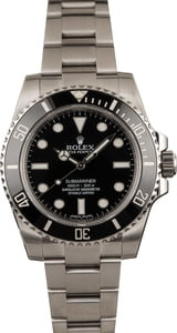 Pre-Owned Steel Rolex Submariner 114060 Ceramic Bezel