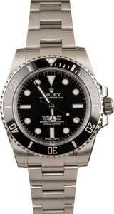 Pre-Owned Submariner Rolex 114060 Ceramic Black Bezel