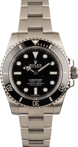 Pre Owned Submariner Rolex 114060 Ceramic Bezel Black