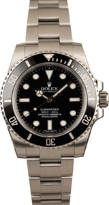 Used Submariner Rolex 114060 Black Ceramic Bezel