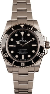 Pre-Owned Submariner 114060 Rolex Ceramic Bezel