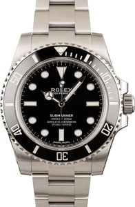 Pre-Owned Rolex Submariner 114060 Black Dial