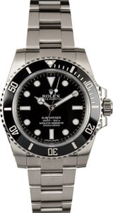 Rolex Submariner 114060 No Date Ceramic 100% Authentic