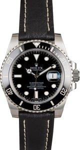 Rolex Submariner 116610 Black Leather Strap