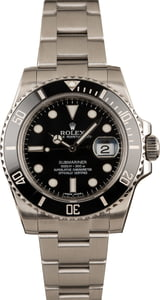 Used Rolex Submariner 116610 Black Ceramic Timing Bezel