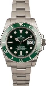 Pre Owned Rolex Submariner 116610V Anniversary Green Hulk
