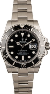 Pre Owned Rolex Submariner 116610 Luminous Black Dial