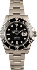 Used Rolex Submariner 116610 Black Ceramic Watch