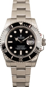 Black Men's Rolex Submariner 116610LN