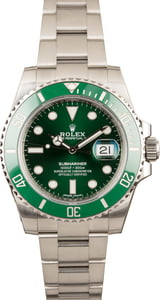 Submariner Rolex 116610V Green Anniversary
