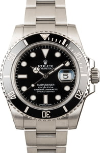 Pre Owned Rolex Submariner 116610 Black Dial & Bezel